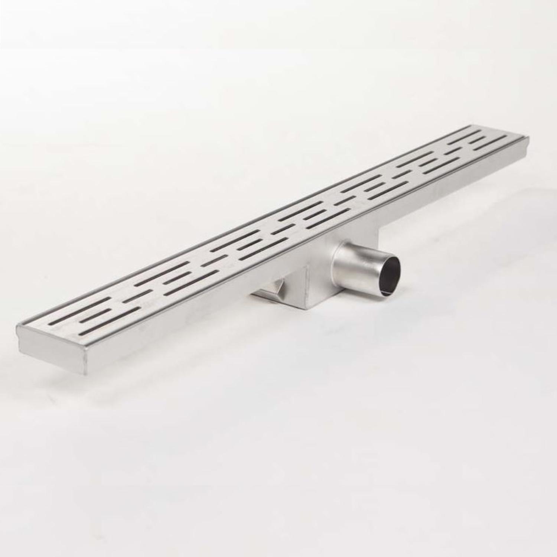 Douchegoot Brauer RVS Geborsteld Zonder Flens 70x7 cm Standaard Rooster Inclusief Kunststof Sifon Br