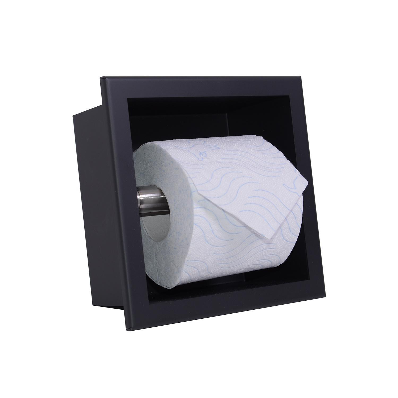 Inbouw Toiletrolhouder Boss & Wessing Mat Zwart Boss & Wessing