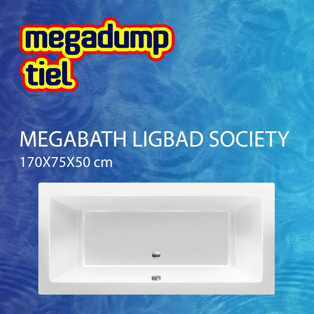 Ligbad Society 170X75X50 cm Mat Cement MegaBath