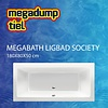 MegaBath Ligbad Society 180X80X50 Cm Mat Creme