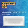MegaBath Ligbad Society 180X80X50 Cm Ebony Mat Zwart