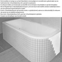 Ligbad Society 180X80X50 Cm Ebony Mat Zwart