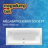 MegaBath Ligbad Society 190X120X50 Cm Edelweiss Gebroken Wit