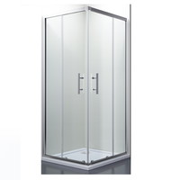 Douchecabine Lacus Panarea Vierkant Helder Glas Aluminium Profiel Chroom (alle maten)