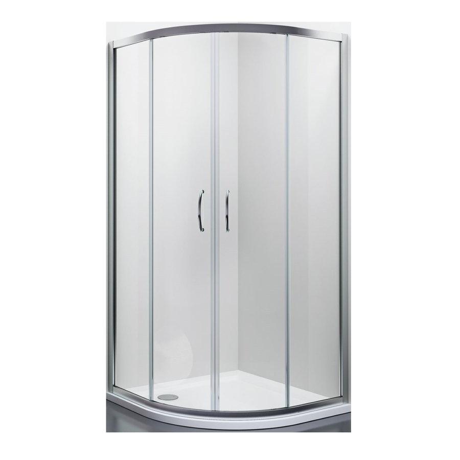 Douchecabine Lacus Panarea Kwartrond Helder Glas Aluminium Profiel Chroom (alle maten)