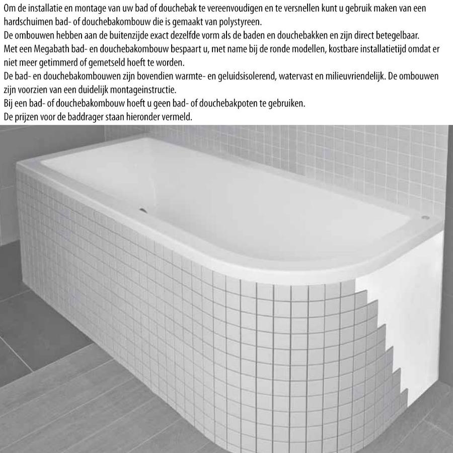 Ligbad Society 200X90X50 Cm Edelweiss Gebroken Wit