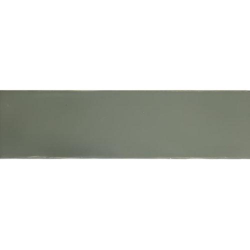 Wandtegel Tebe Vintage 7.5x30 cm Mat Olijf Groen (Doosinhoud per M²)