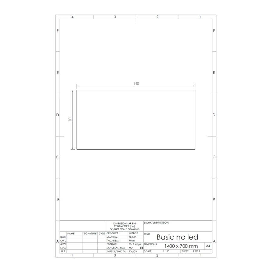 Spiegel Gliss Design Basic Zonder Verlichting
