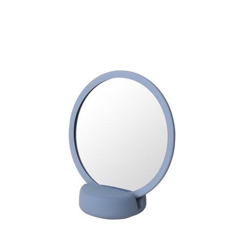 Scheerspiegel Blomus Sono Ø 17 cm Make-Up Spiegel Vijf Keer Vergrotend Ashley Blue