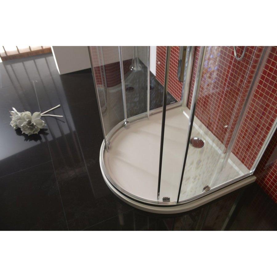 Douchecabine Sapho Lucis Line Halfrond Schuifdeuren 100x100 cm 6 mm Antidrop Helder Glas