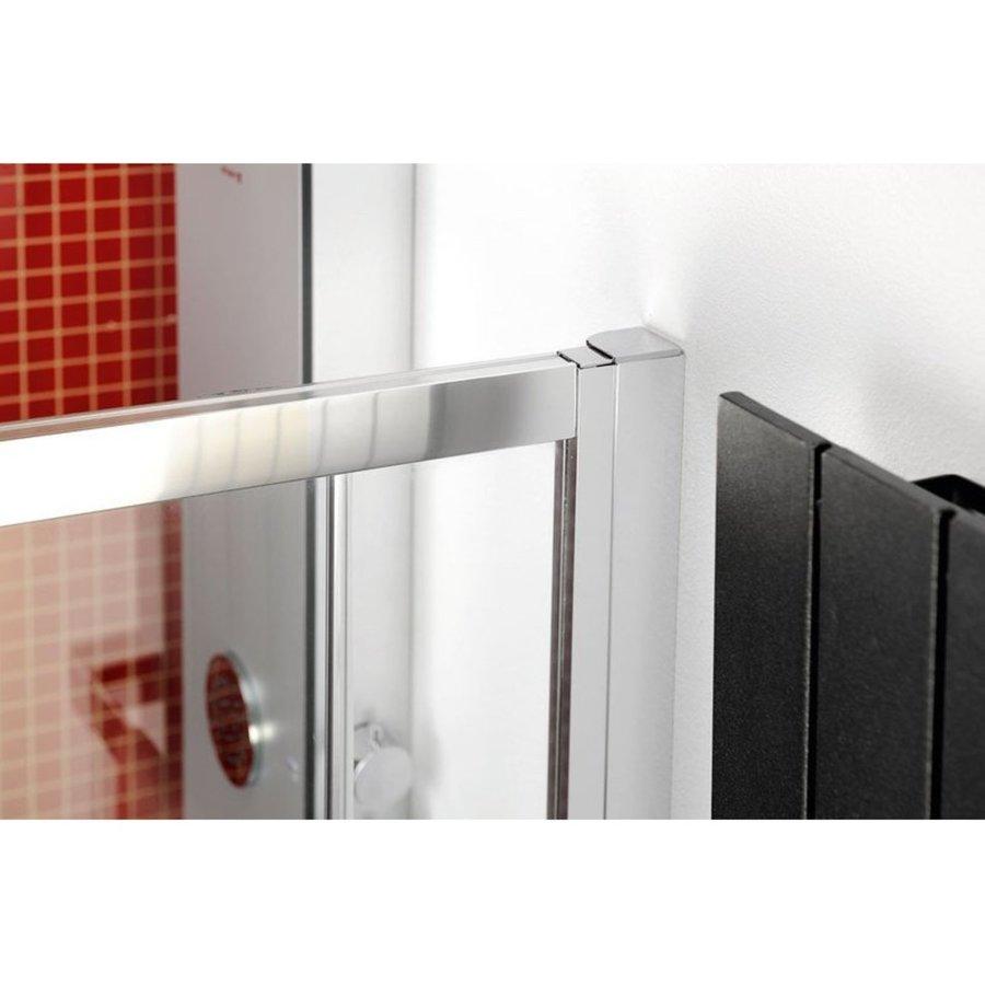 Douchecabine Sapho Lucis Line Halfrond Schuifdeuren 90x90 cm 6 mm Antidrop Helder Glas