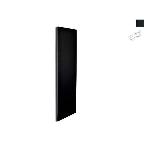 Designradiator Sanicare Denso 180x40 Mat Zwart Inclusief Ophanging 948 Watt (onderzijde aansluiting)