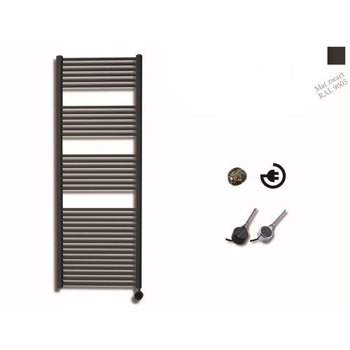Elektrische Design Radiator Sanicare Plug En Play 172 x 60 cm Mat Zwart Thermostaat Zwart 1127 Watt