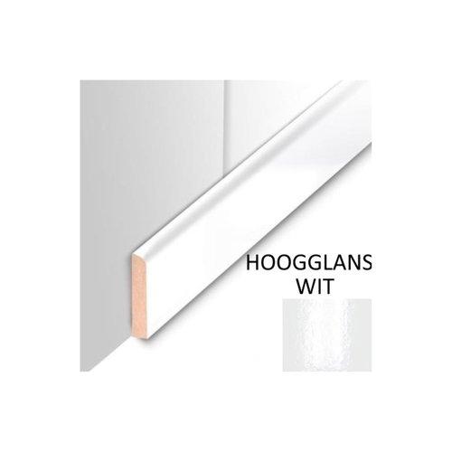 Plafondplint MDF Sanimex Hoogglans Wit 260 cm x 4 cm x 8 mm