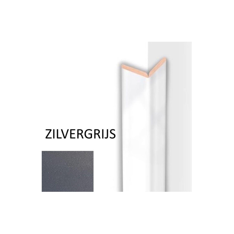 Kniklijst MDF Sanimex Zilvergrijs 260 cm x 22 mm x 22 mm Sanimex