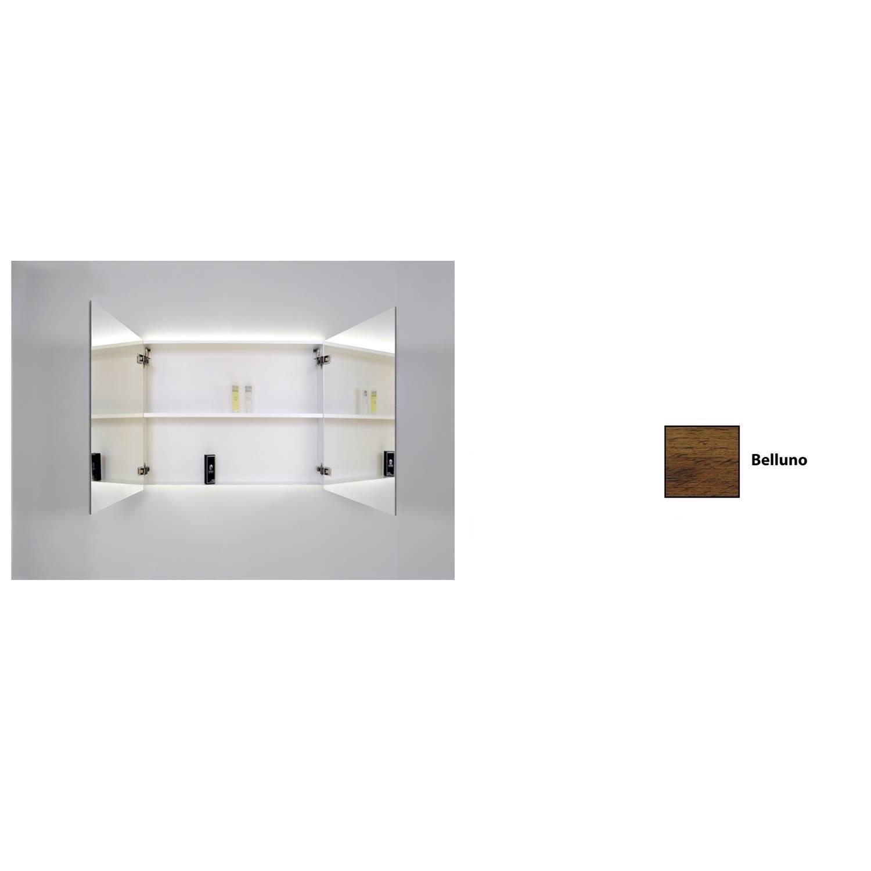 Spiegelkast Sanicare Qlassics Ambiance 80 cm 2 Spiegeldeuren Belluno Eiken Sanicare