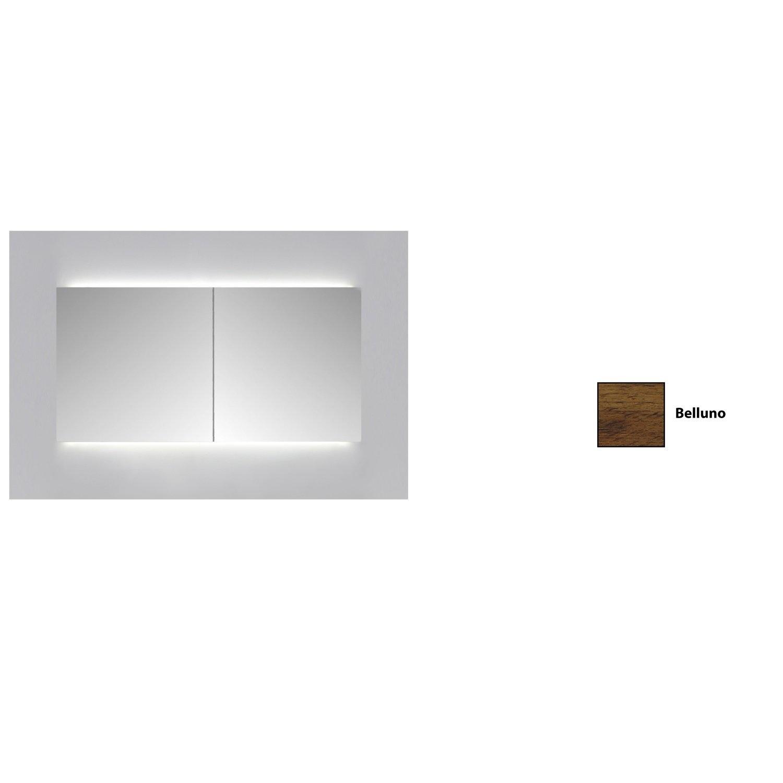 Spiegelkast Sanicare Qlassics Ambiance 120 cm 2 Spiegeldeuren Belluno Eiken Sanicare