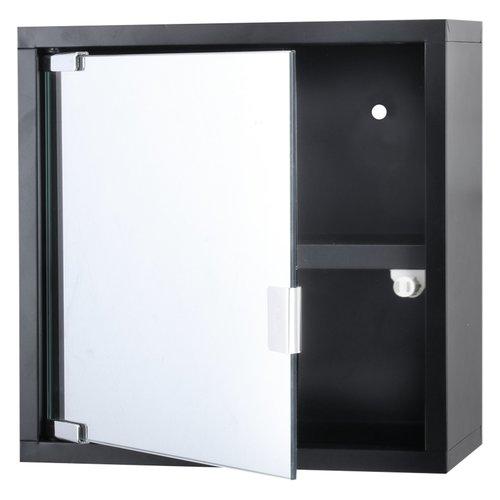 Differenz Quardo kubuskast 30 x 30 x 12 cm Met Spiegel Zwart