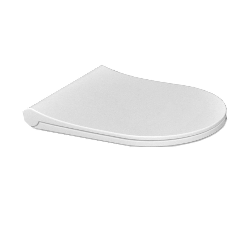 Toiletzitting Sanicare Rondo SLIM Ultra Dun Soft Close T.b.v. Rondo Wandcloset Wit Sanicare