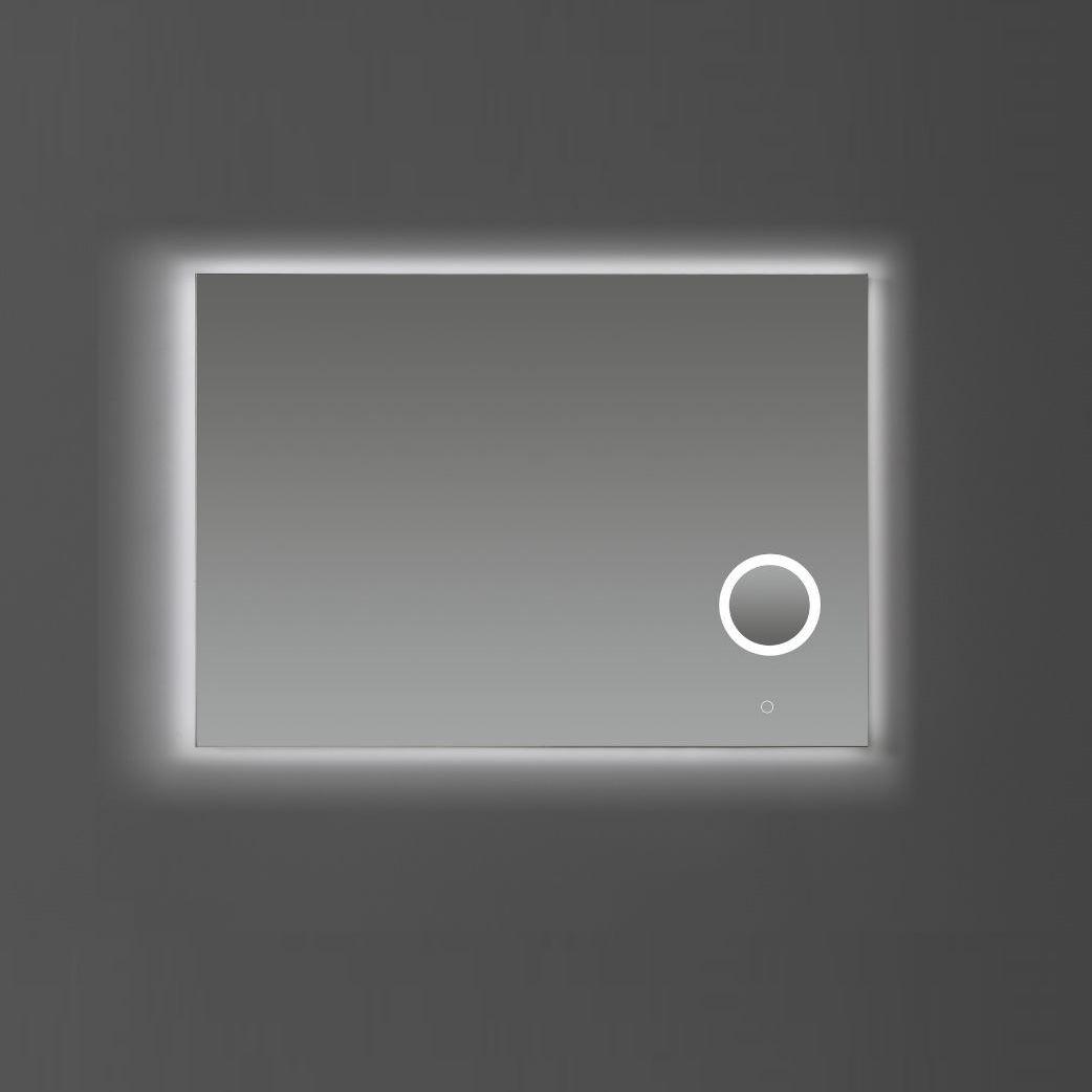 Badkamerspiegel Sanilux Met Spiegelverwarming Dimbare LED-Verlichting en Make-Up Spiegel 100x70x2,5