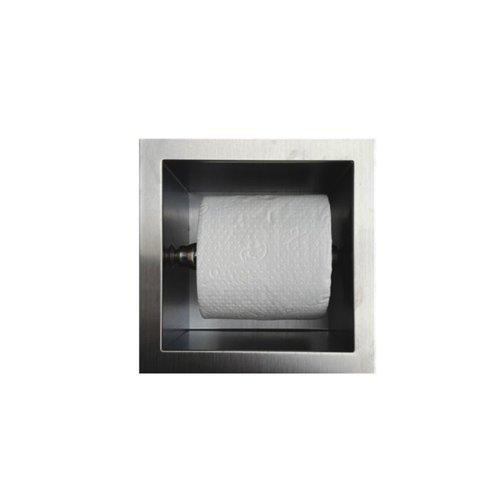 Inbouw Toiletrolhouder Sanilux RVS 13,5x13x12 cm