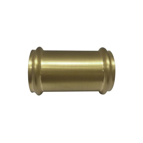 Koppelstuk Exellence 32mm tbv Vloerbuis Geborsteld Messing Goud