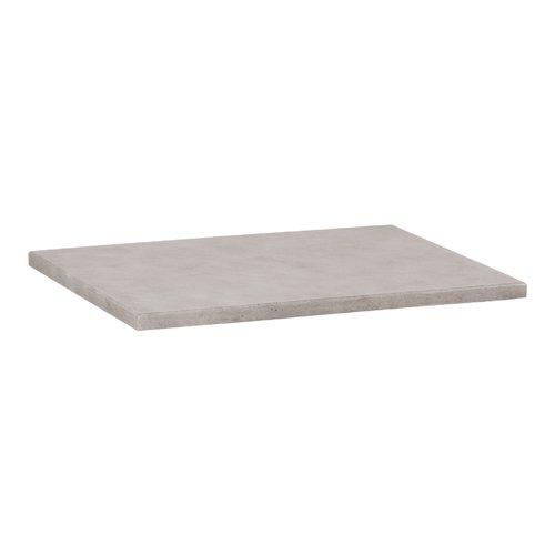 Wastafelblad Beton 59.5x45.7x2.5 cm Beton Grijs