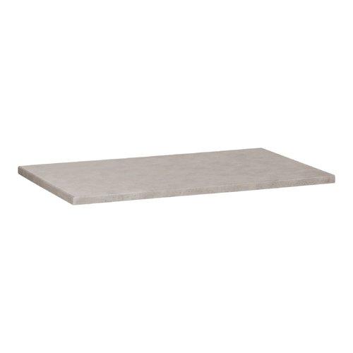 Wastafelblad Beton 80.5x45.7x2.5 cm Beton Grijs