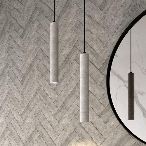 Hanglamp Beton met LED Verlichting 4.1x30 cm Beton Grijs