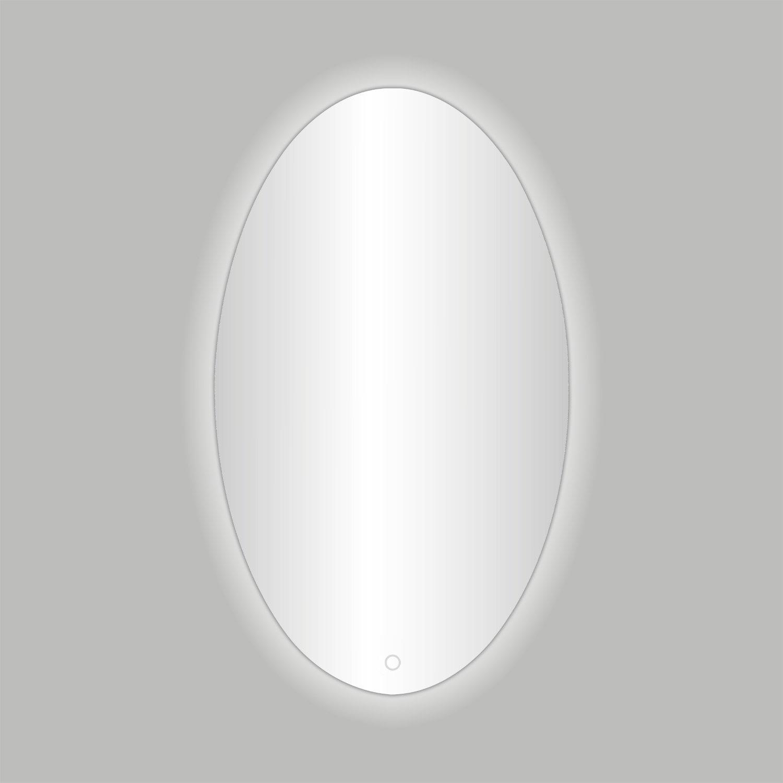 Best Design Badkamerspiegel Divo-60 LED Verlichting 60x80 cm Ovaal