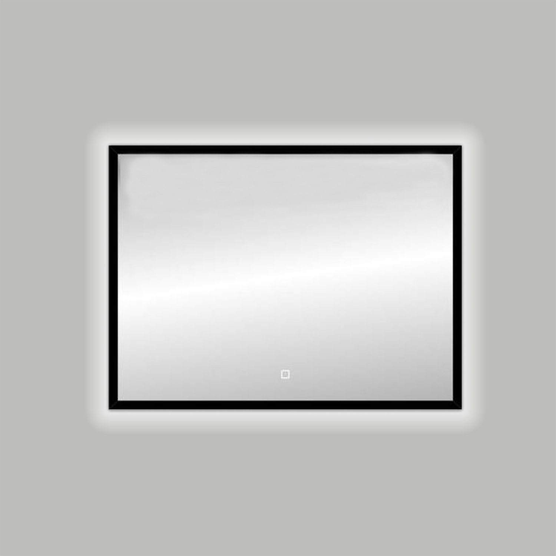 Best Design Badkamerspiegel Nero LED Verlichting 80x60 cm Mat Zwart