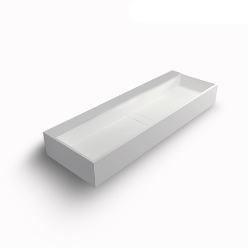 Wand Wastafel Bellezza Bagno Marsciano Solid Surface 120x40x15 cm Mat Wit