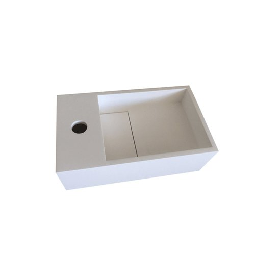 Fontein Bellezza Bagno Piazza Solid Surface 35x20.4x12 cm (kraangat links)