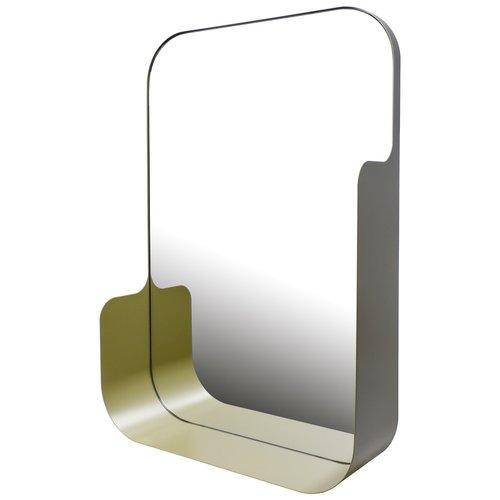 Badkamerspiegel Haceka Pekodom Inclusief Planchet Goud Metaal 90x40x12 cm