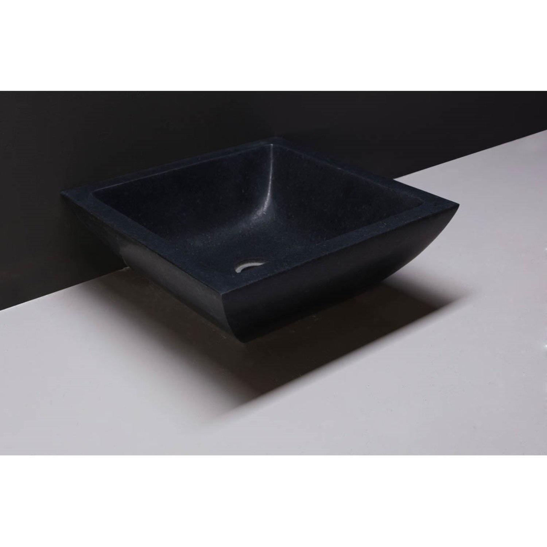 Waskom Forzalaqua Siracusa Graniet Gezoet 40x15 cm Forzalaqua