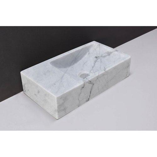 Fontein Forzalaqua Venetia Carrara Gepolijst Kraangat Links 40x22x10 cm