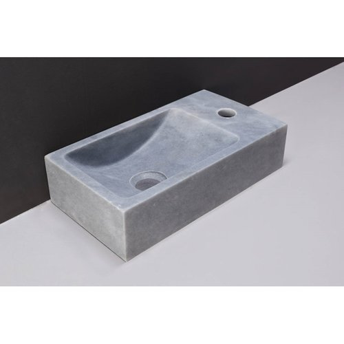 Fontein Forzalaqua Venetia Cloudy Marmer Gezoet Zonder Kraangat Rechts 40x22x10 cm