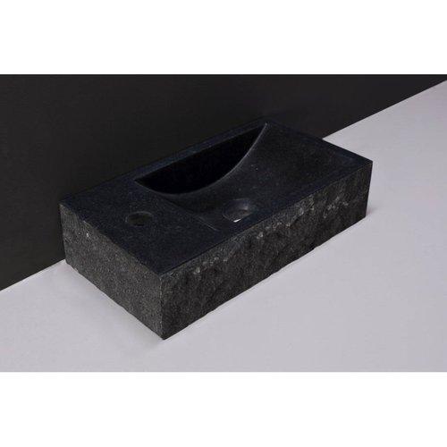 Fontein Forzalaqua Venetia Graniet Gezoet En Gekapt Zonder Kraangat Links 40x22x10 cm