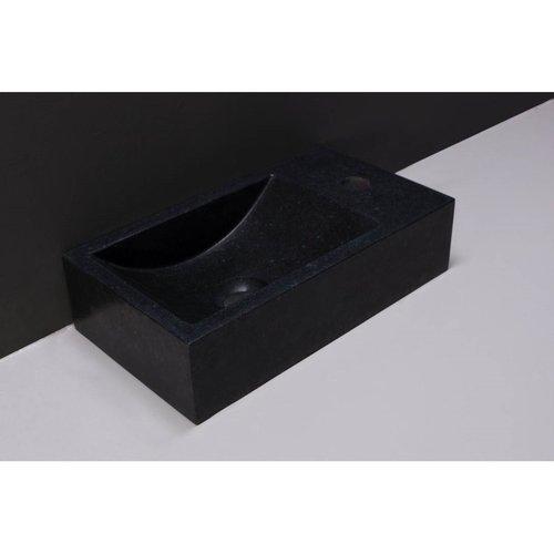 Fontein Forzalaqua Venetia Graniet Gezoet Zonder Kraangat Rechts 40x22x10 cm
