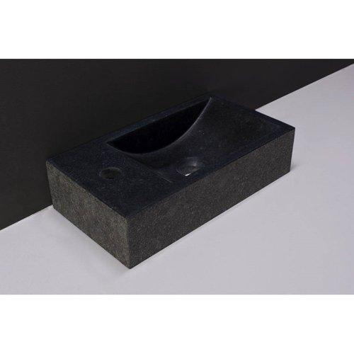 Fontein Forzalaqua Venetia Graniet Gezoet En Gebrand Zonder Kraangat Links 40x22x10 cm
