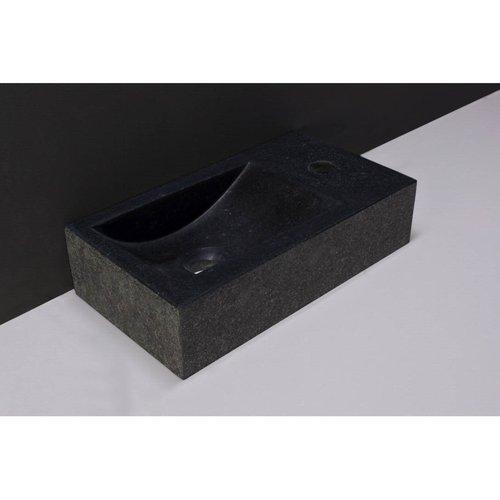 Fontein Forzalaqua Venetia Graniet Gezoet En Gebrand Met Kraangat Rechts 40x22x10 cm