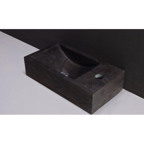 Fontein Forzalaqua Kalmar Hardsteen Gezoet Zonder Kraangat Rechts 40x22x10 cm