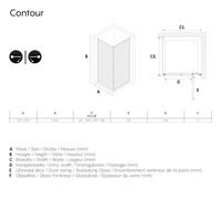 Sealskin Get Wet Contour Douchecabine met Draaideur 90x90 cm 6mm Helderglas Mat Zwart