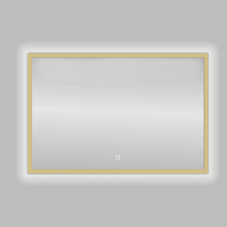 Best Design Badkamerspiegel Nancy Isola LED Verlichting 80x60 cm Mat Goud
