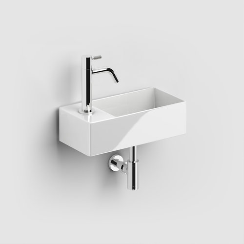 Fontein Clou Flush 3 Keramiek Wit Met Kraangat Links 35x10x18 cm