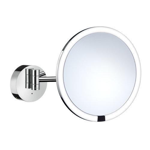 Vergrotingsspiegel Smedbo Outline Draaibaar met LED PMMA Inclusief Sensor Chroom
