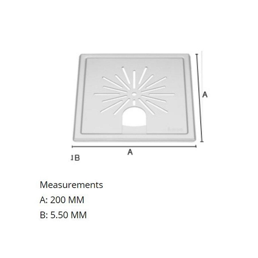 Afvoerrooster Smedbo Outline Met Sterpatroon Voor Badkuipen 20 x 20 x 0.55 cm RVS