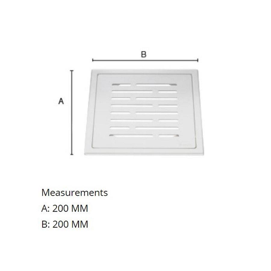 Afvoerrooster Smedbo Outline Met Lijnen Patroon 20 x 20 x 0.55 cm RVS