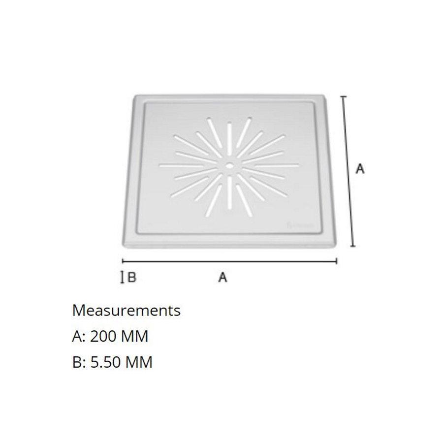 Afvoerrooster Smedbo Outline Met Sterpatroon 20 x 20 x 0.55 cm Geborsteld RVS