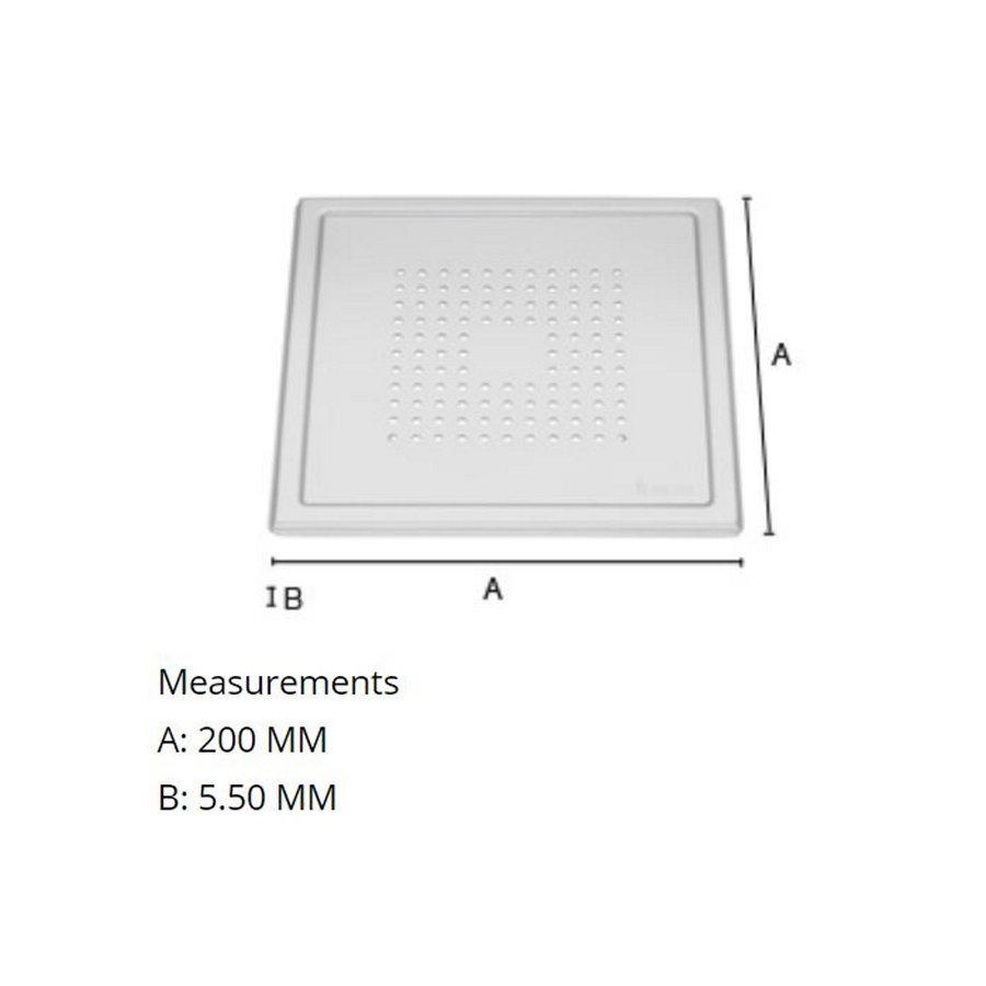 Afvoerrooster Smedbo Outline Met Vierkant Patroon 20 x 20 x 0.55 cm Geborsteld RVS